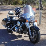 Kawasaki Vulcan Nomad at a Rest Area, Oxley Highway