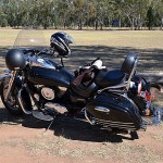 Our Kawasaki Vulcan Nomad at Clyde Purkiss Memorial Oval