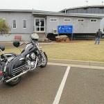 Our Kawasaki Vulcan Nomad at Narrabri Tourist Information Centre